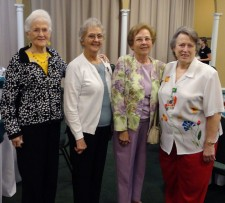 Ruth Byrd, Sandra Davis, Josette Bonfanti, and Carolyn Emerson being honored at Forrest General Hospital Volunteer Appreciation Luncheon
