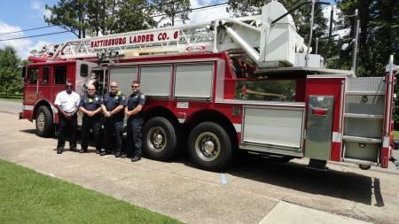 July-HFD ladder truck