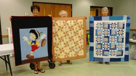Winners of Parade of Children's Quilts: Dianne McLendon, Sally Henderson, Betty Allen