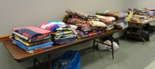 Tables of 116 quilts to be given