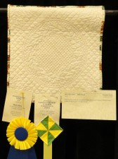 by Elizabeth Smith, Hand Quilting-Small award
