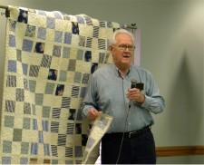 Joe Bingham with auction quilt