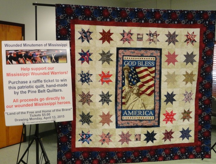 Raffle Quilt to benefit Mississippi Wounded Warriors