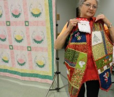 vest and ornament by Donna Smith