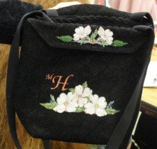 purse by Mary Henderson made from a placemat